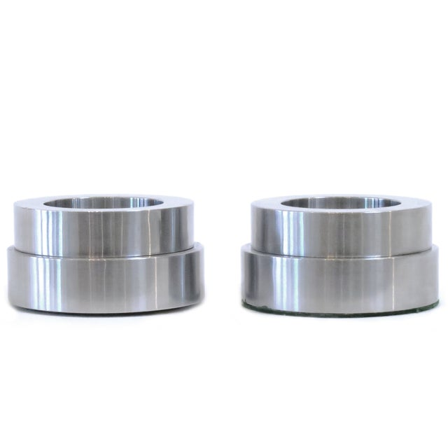 Arco Art Aluminum Candleholders - A Pair - Image 1 of 3