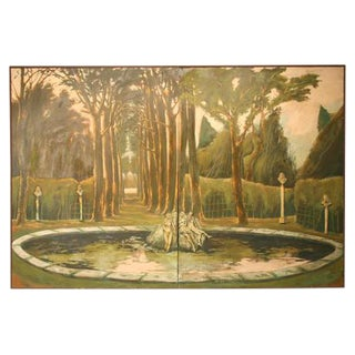 3-D Garden of Versailles Two-Panel Wall Mural
