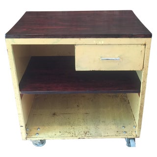 Yellow Industrial Rolling Cabinet