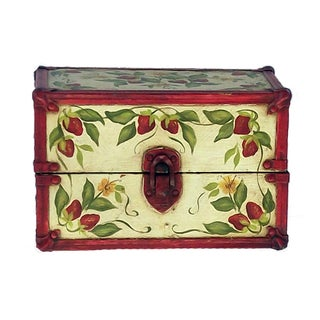 Vintage Hand Painted Doll Trunk