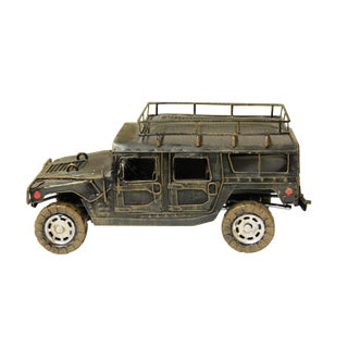 Handmade Collectible Detail Classic Style Light Green Hummer Model Car