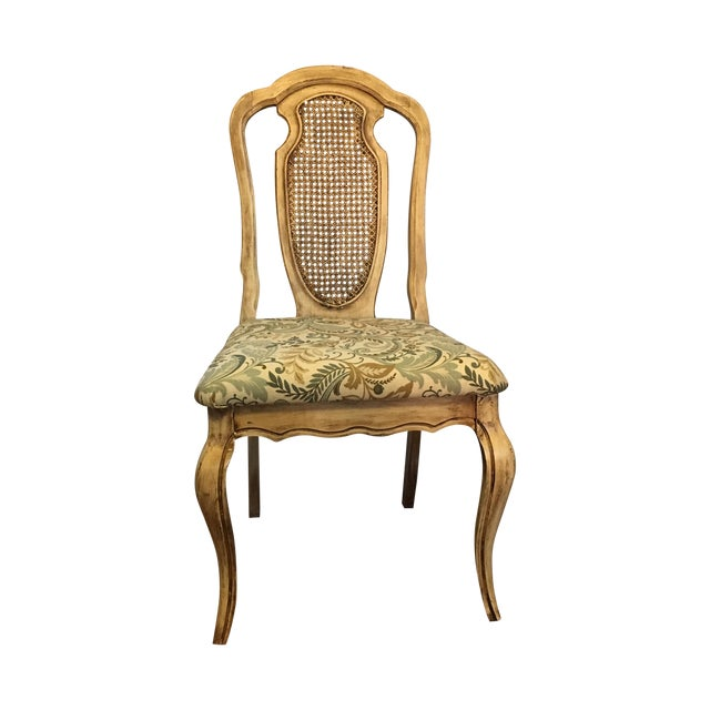 Vintage Cream Cane French Provencial Chair - Image 1 of 9