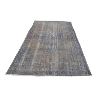 """Gray Floral Area Rug - 5′7″ × 9′2"""""""