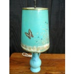 Image of Van Briggle Turquoise Butterfly Lamp