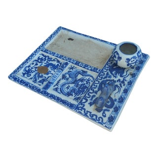Blue And White Calligraphy Ink Slate