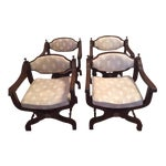 Image of Roman Upholstered Taupe Chairs - Set of 4