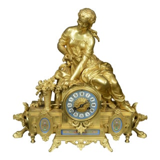 1820's Gay Vicarino Gilt Louis Style Mantel Clock