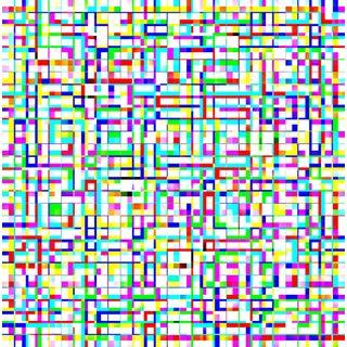 Suga Lane - Untitled 3055-349 Limited Edition Geometric Print