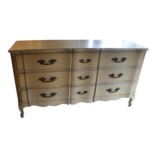 Vintage French Provincial 9 Drawer Dresser