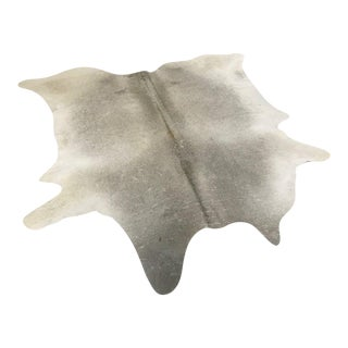 "Salt & Pepper Cowhide Rug- 6'6"" x 6'6"""