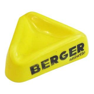 1950's Yellow Berger Ashtray