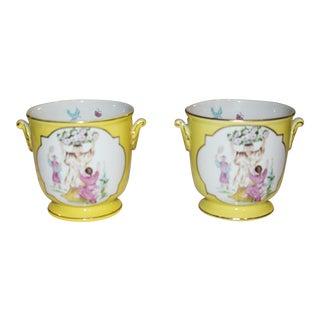 Towle Porcelain Cachepots- A Pair