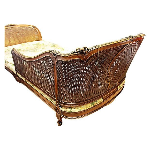 19th-C. French Caned Recamier - Image 5 of 7