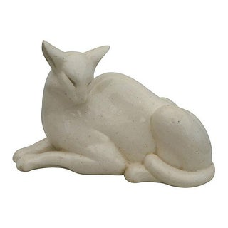 Art Deco White Cat from France