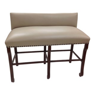Dual Seat Leather Bar Bench