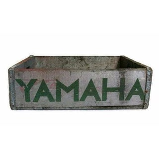 Industrial Wood Crate With Yamaha Stencil