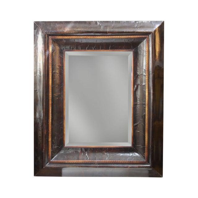 Image of Brown Papier Mache Mirror