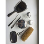 Image of J E Caldwell Sterling Silver 9-Piece Dresser Set