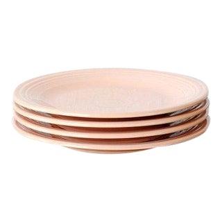 Vintage Fiestaware Apricot Dinner Plates - Set of 4