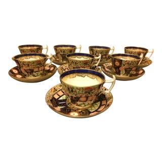 Imari Tea Cups & Saucers - Service for 8