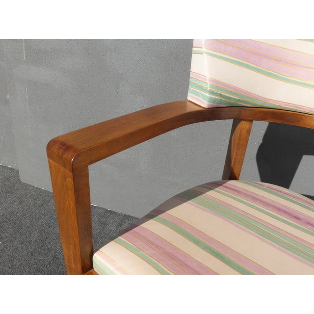 Mid-Century Danish Modern Leather Arm Chairs - 4 - Image 9 of 11