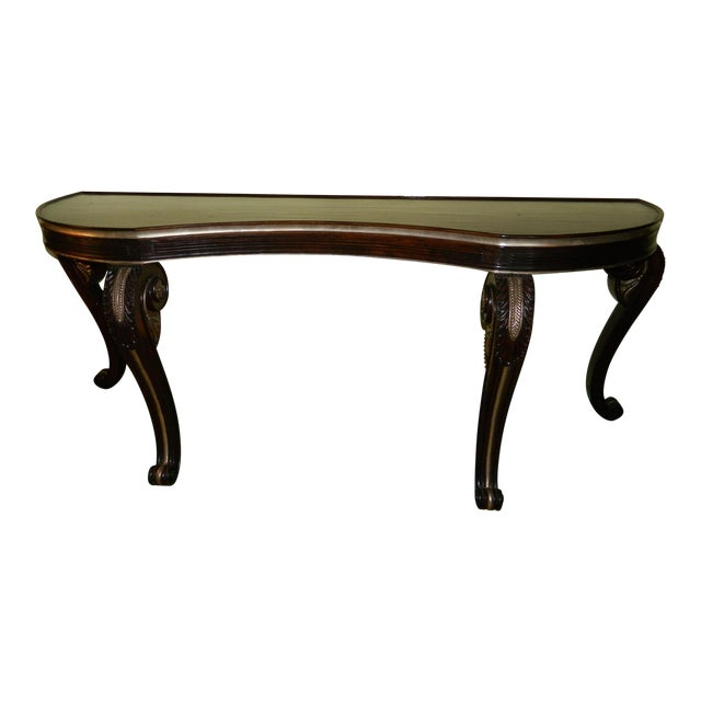 Dessin Fournir Carved Scroll Legs Console Table - Image 1 of 11