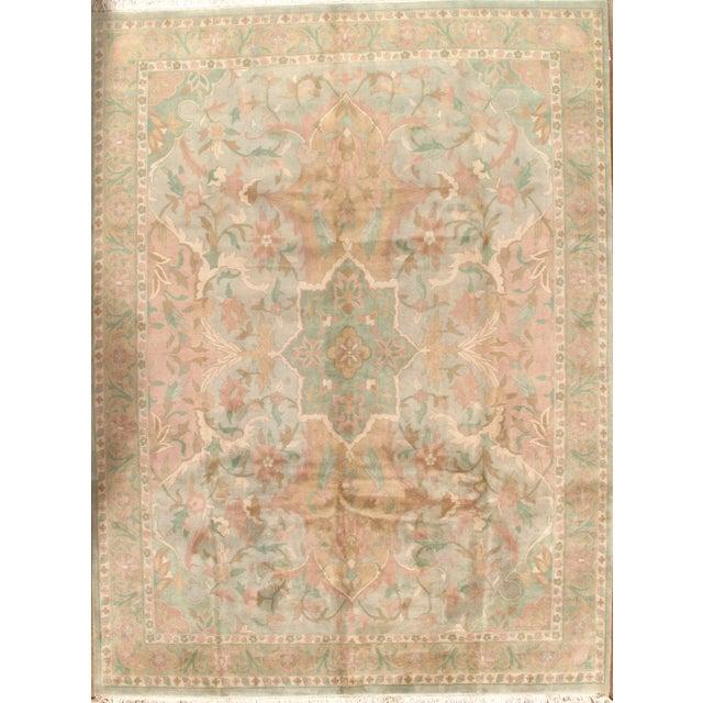 """Pasargad N Y Pastel Colors Tabriz Rug - 8'10"""" X 12' - Image 1 of 6"""
