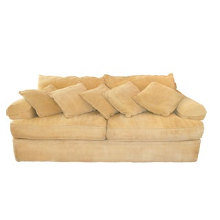 Gold Corduroy Henredon Sofa
