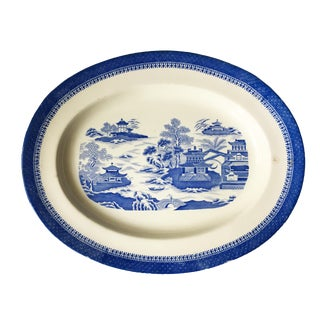 1884 Antique English Copeland Blue Transferware Platter