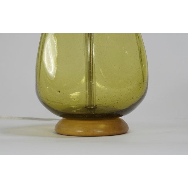 Pair of Green Blenko Glass Lamps with Matching Finials - Image 4 of 8