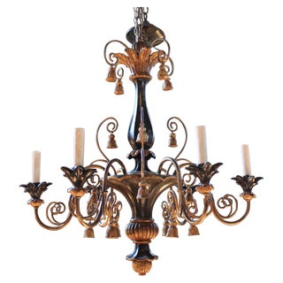 Antique Italian Gilt-Wood Chandelier