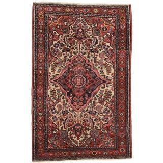 """Vintage Persian Karajeh Wool Rug - 3'5"""" x 5'3"""""""