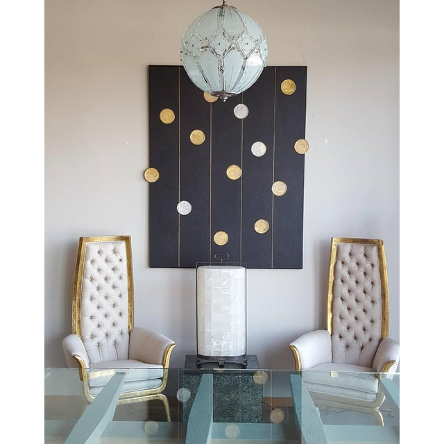 Art Wall Panel with Texture and Rock Crystal by Paul Marra - Image 10 of 11