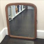 Image of Vintage Curved Wood Mirror
