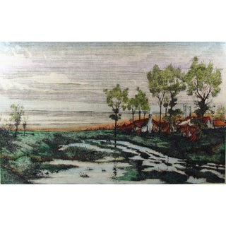 """""""February Fill Dyke"""" Etching by Dan Mitra"""