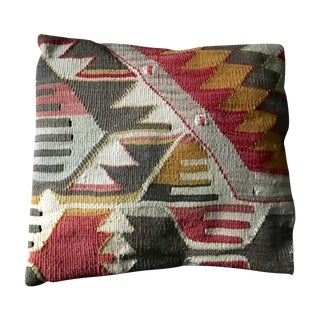 Exotic Antique Tribal Kilim Pillow