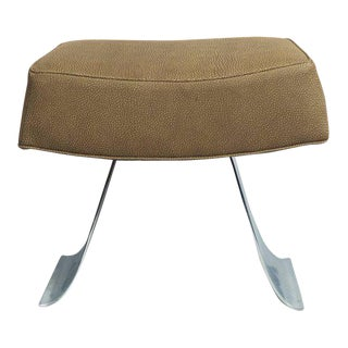 French Steel & Leather Stool