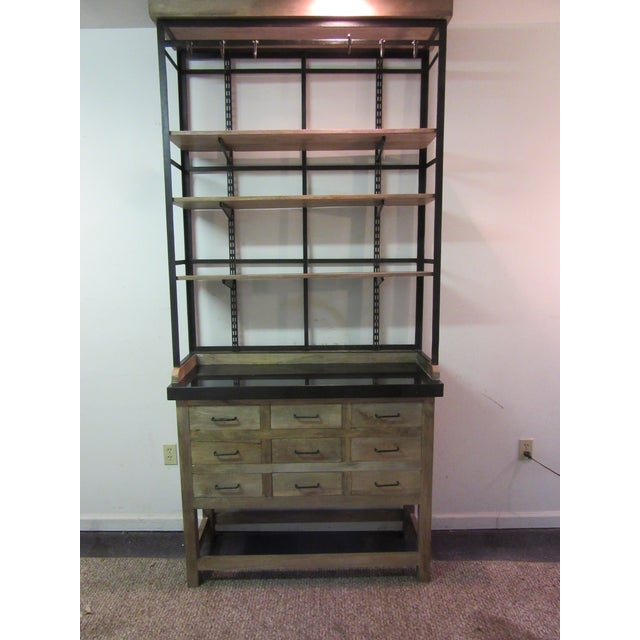 Inudstrial Back Hutch & Stone Type Top - Image 2 of 11