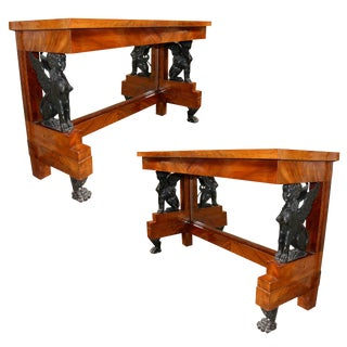 Pair of French Charles X Console Tables