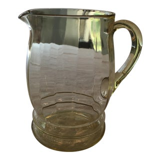 Yellow Glass Pitcher