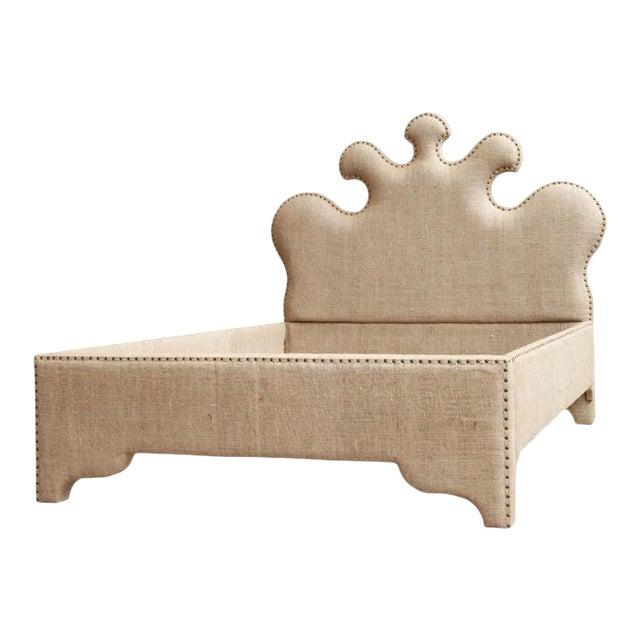 Noir Queen Burlap Bed - Image 1 of 10