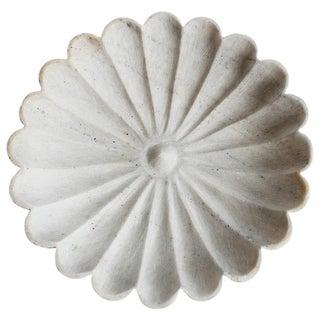 Large White Marble Daisy Dish