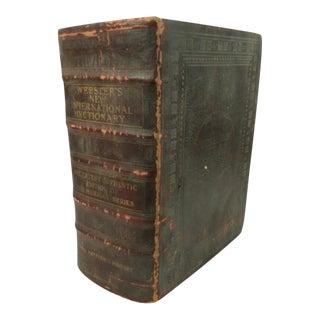 Vintage 1928 Webster's International Dictionary