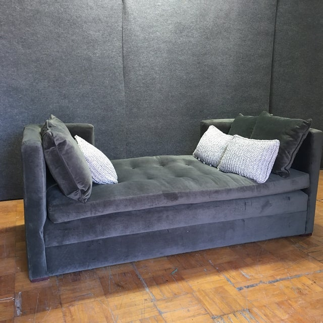 Modern Grey Daybed & Pillows - Image 2 of 8
