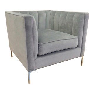 Taylor Burke Home Devereaux Chair In Slate Velvet
