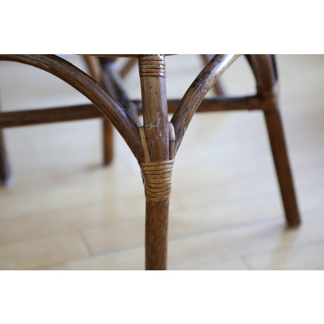 Bamboo Dining Table with Mudcloth Chairs - Set of 5 - Image 7 of 11