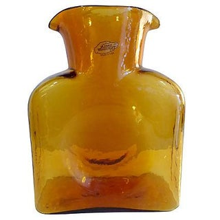 Blenko Handcrafted Amber Color Vase