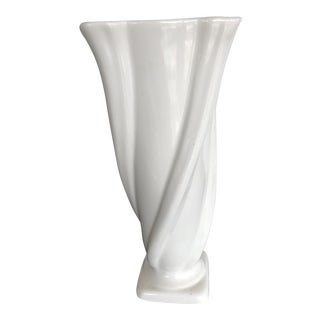 American Tall White Ware Vase