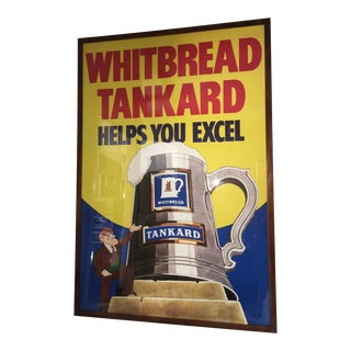 Original English Whitbred Tankard Ales Poster