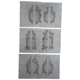 18th-C. Chippendale Furniture Engravings- Set of 3